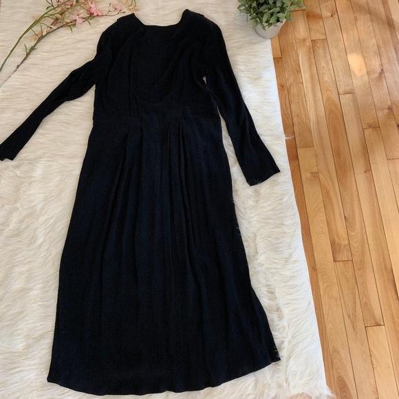 Flax Dresses & Skirts - FLAX Long Sleeve Black Long Sleeve Maxi Dress S
